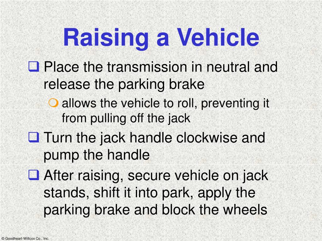 Raising a Vehicle