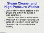 steam cleaner and high pressure washer