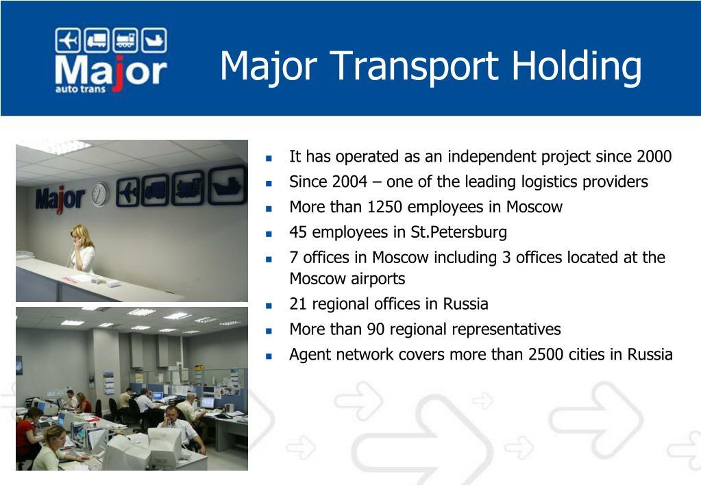 Major Transport Holding