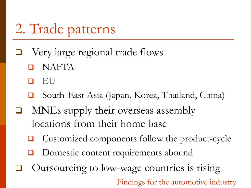 2. Trade patterns