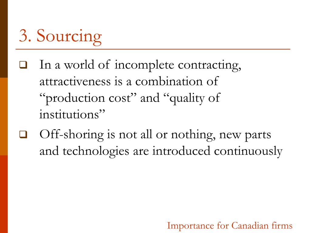 3. Sourcing