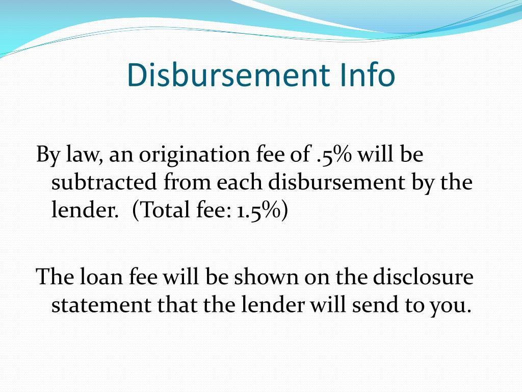 Chandler gilbert loan disbursement