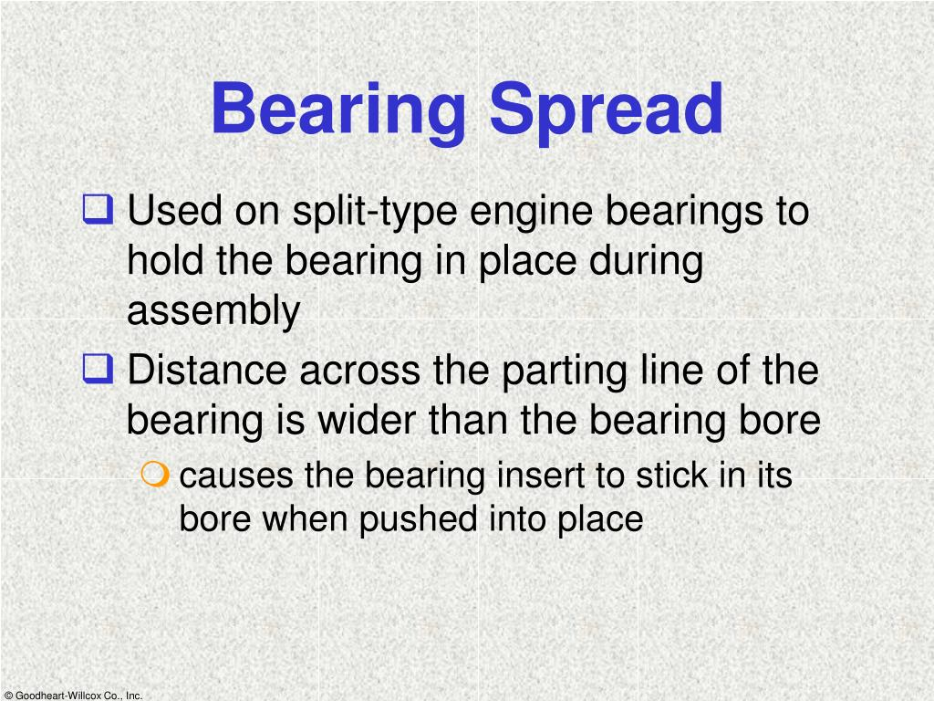 Bearing Spread