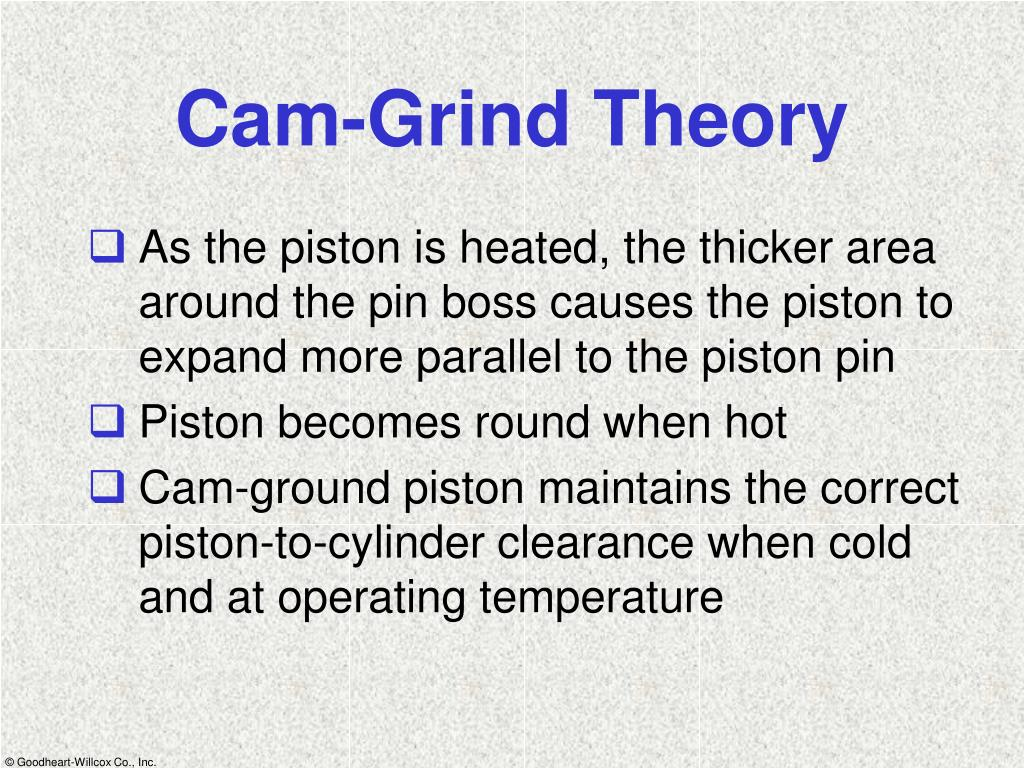 Cam-Grind Theory