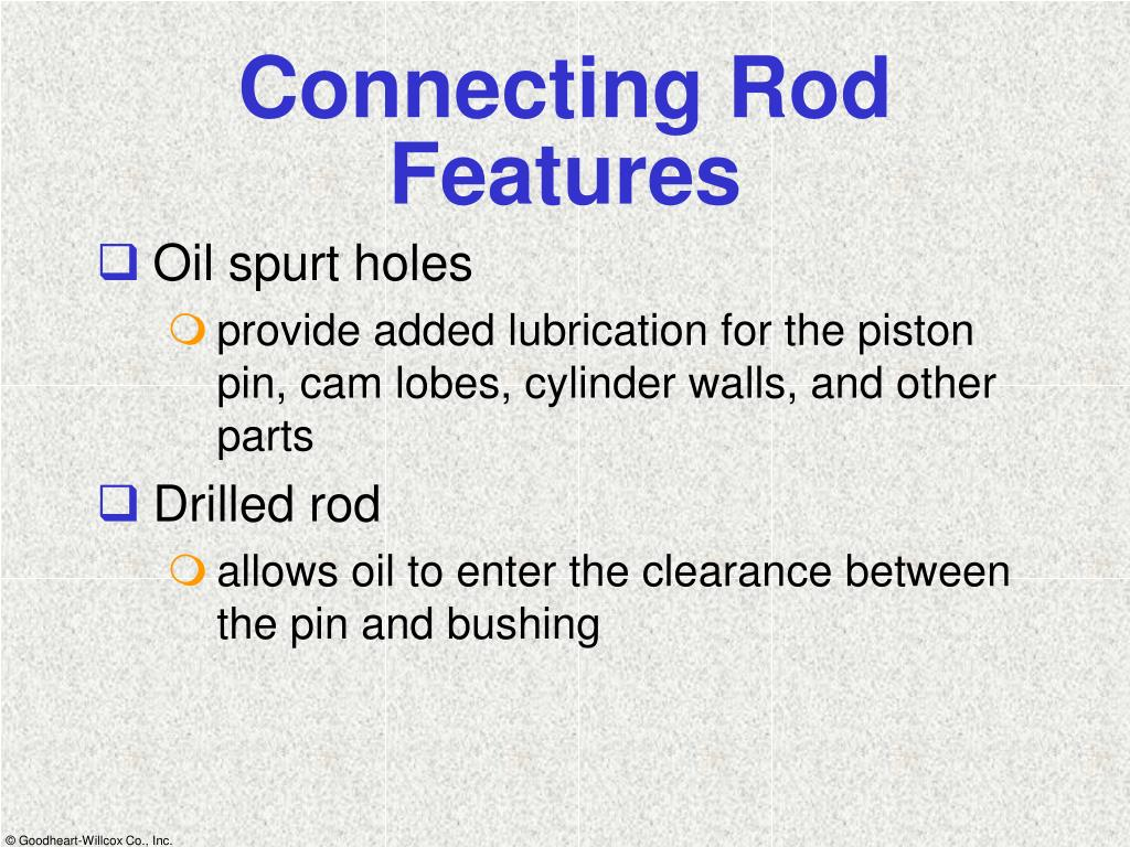 Connecting Rod Features
