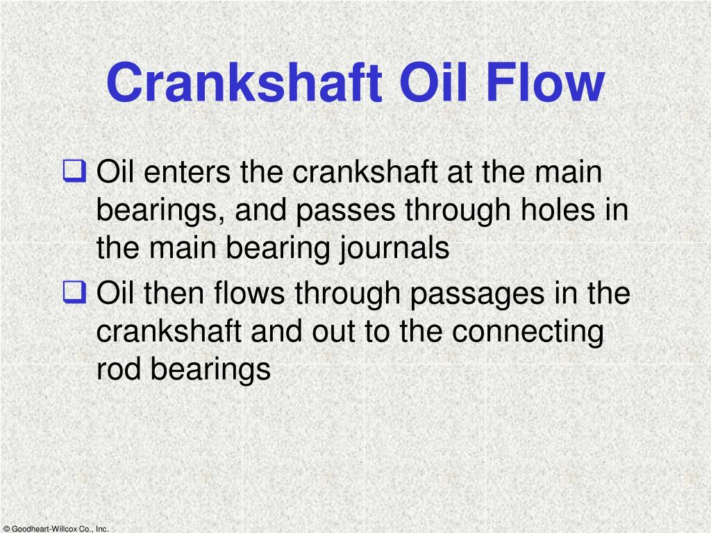 Crankshaft Oil Flow