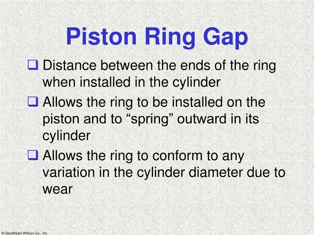 Piston Ring Gap