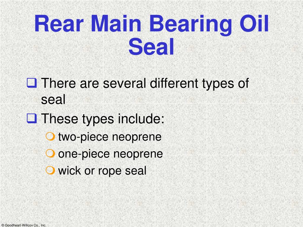 Rear Main Bearing Oil Seal