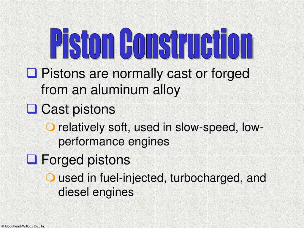 Piston Construction
