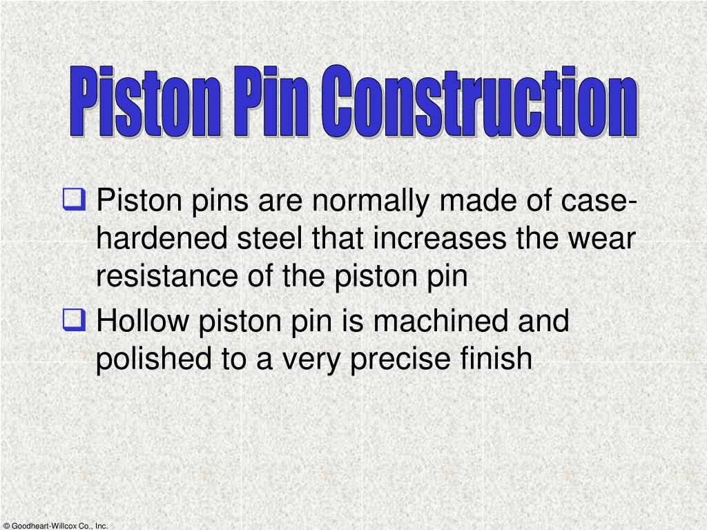 Piston Pin Construction