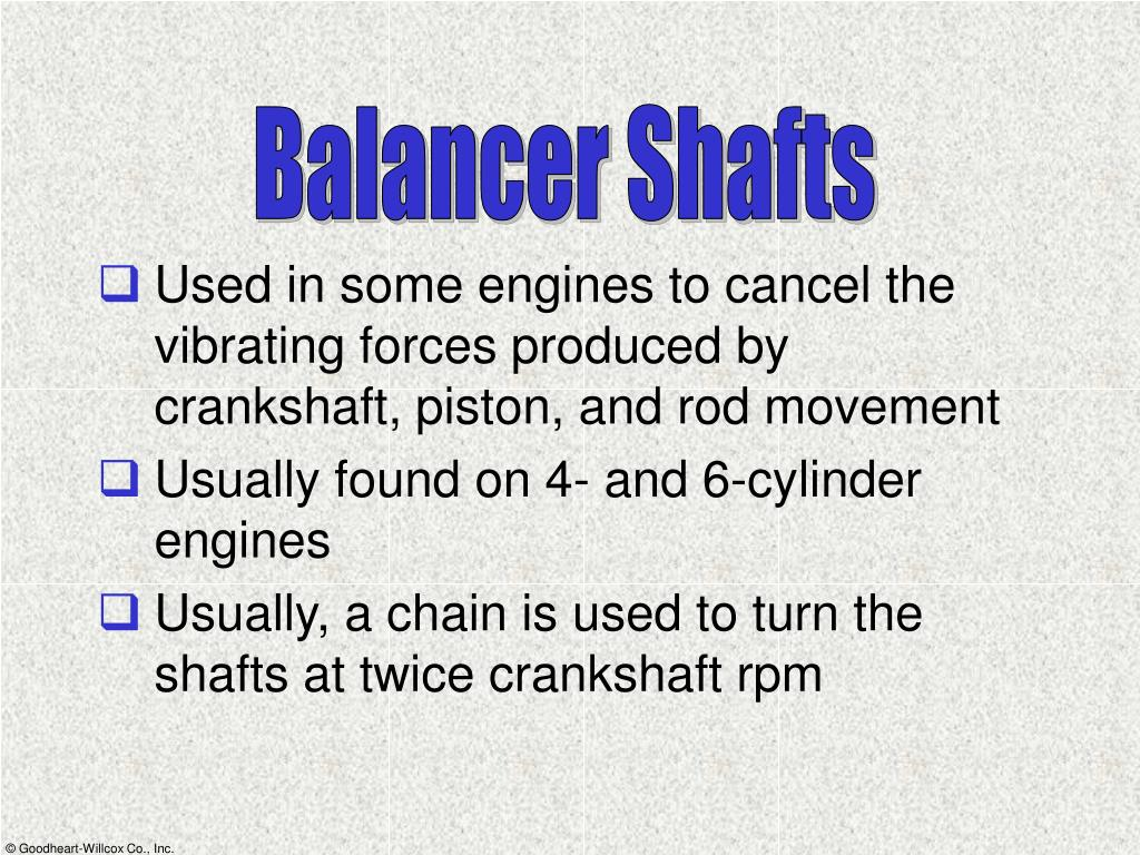Balancer Shafts
