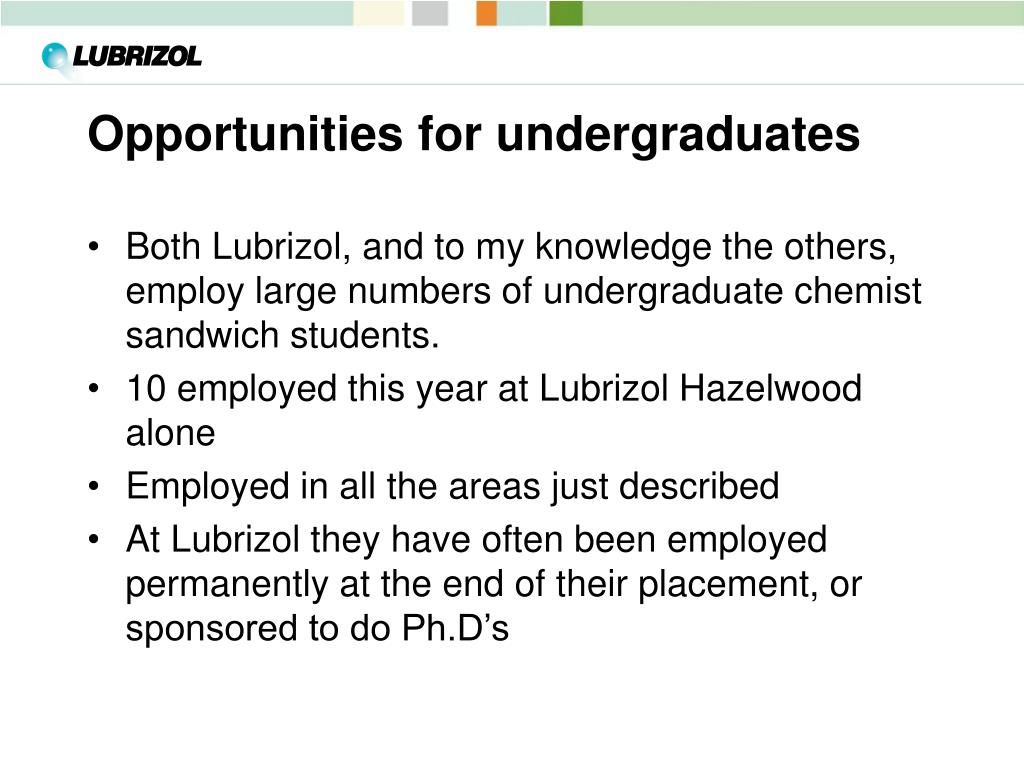 Opportunities for undergraduates