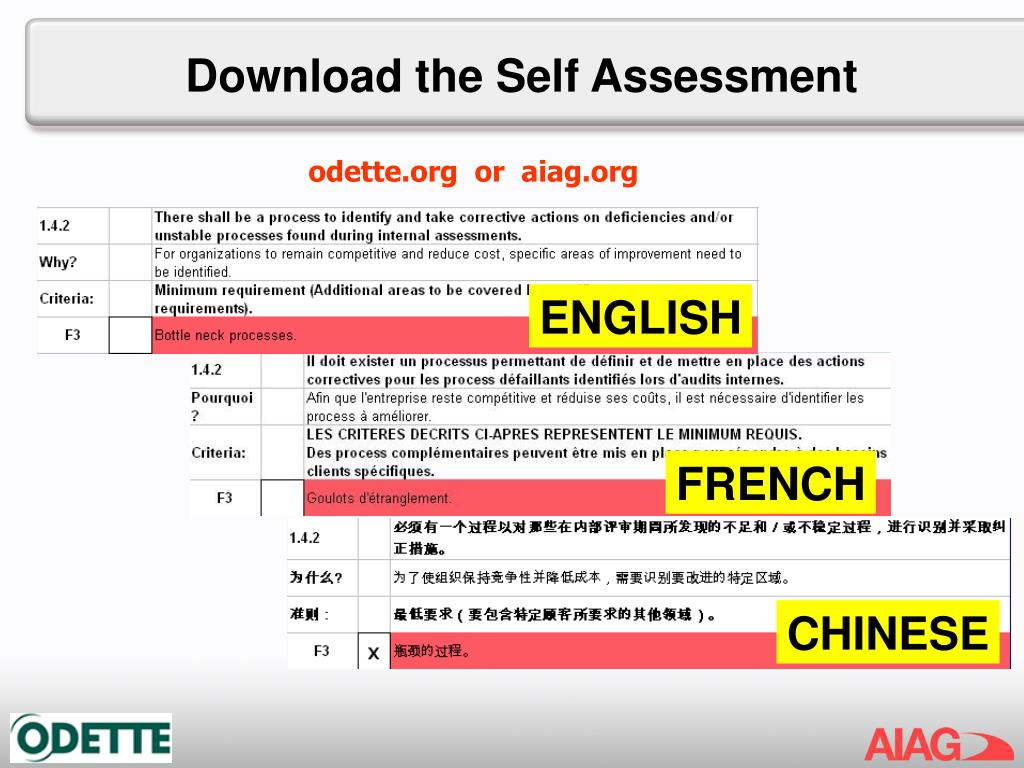 Download the Self Assessment