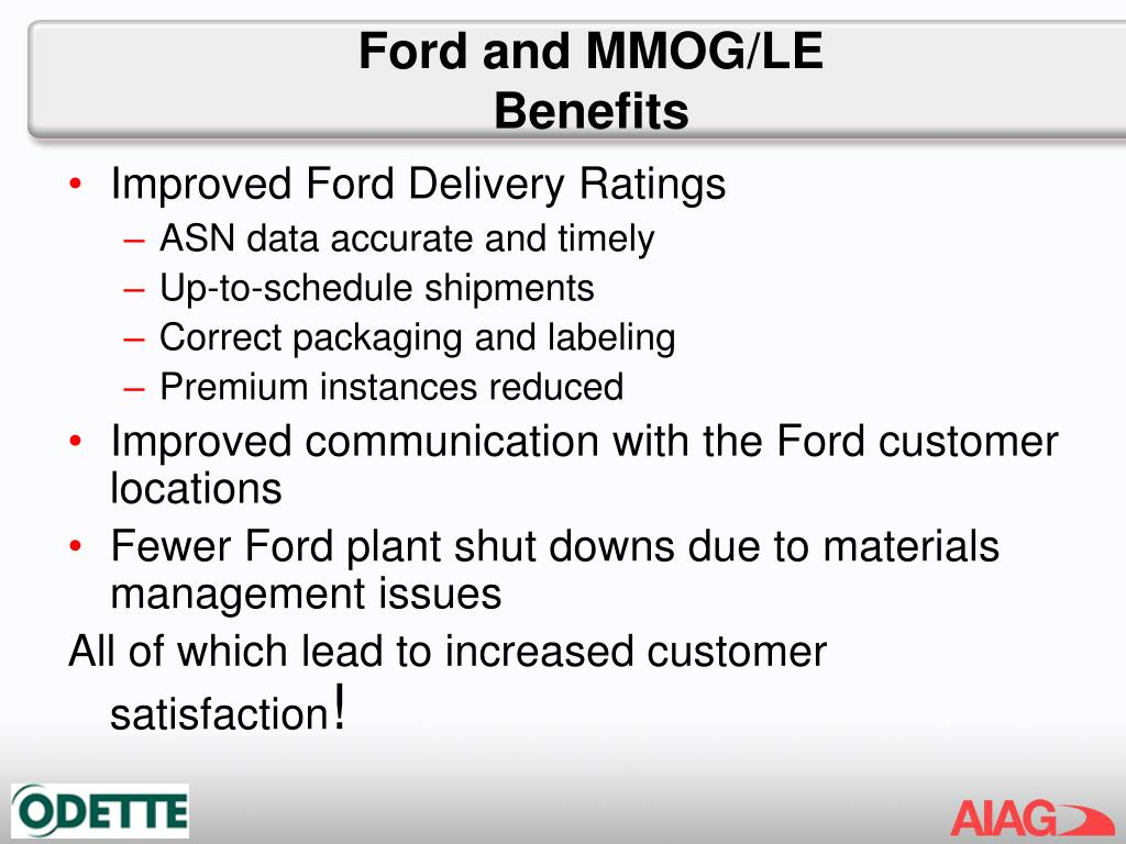 Ford and MMOG/LE