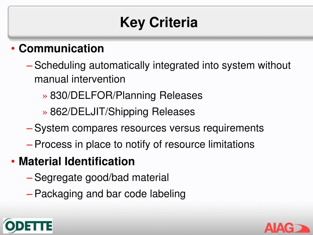 Key Criteria