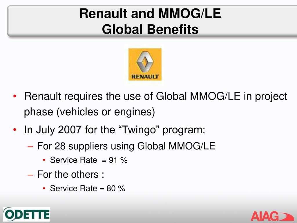 Renault and MMOG/LE