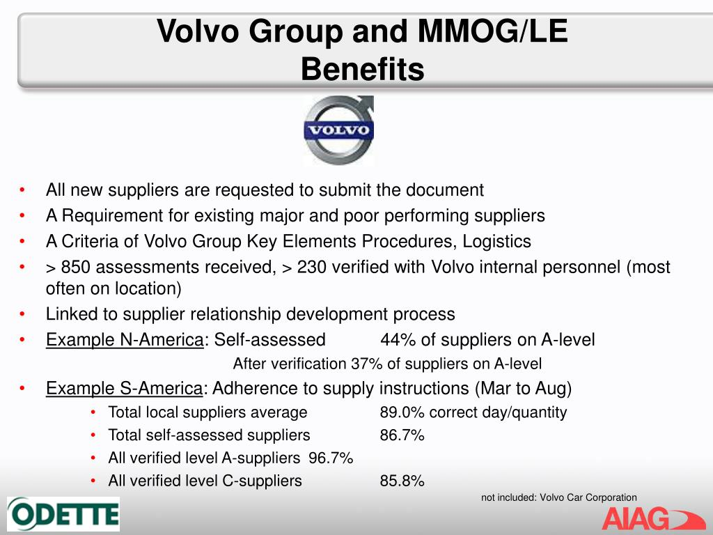 Volvo Group and MMOG/LE