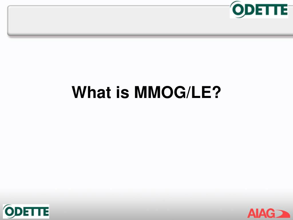 What is MMOG/LE?