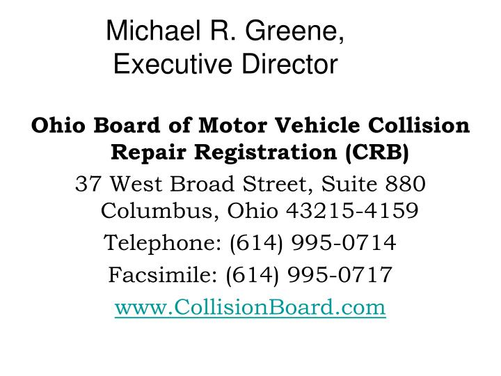 Michael r greene executive director