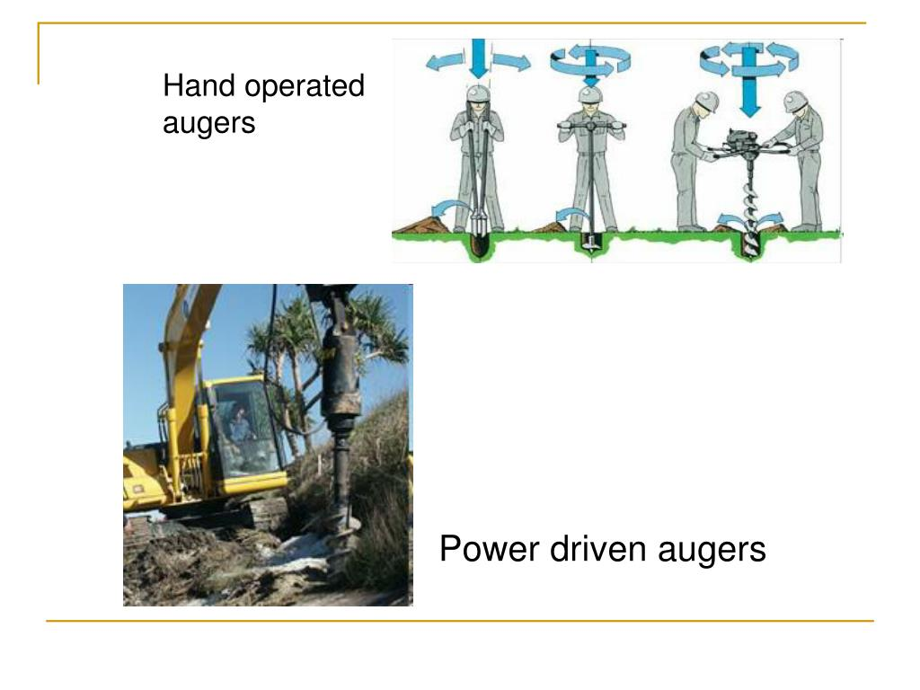 Hand operated augers
