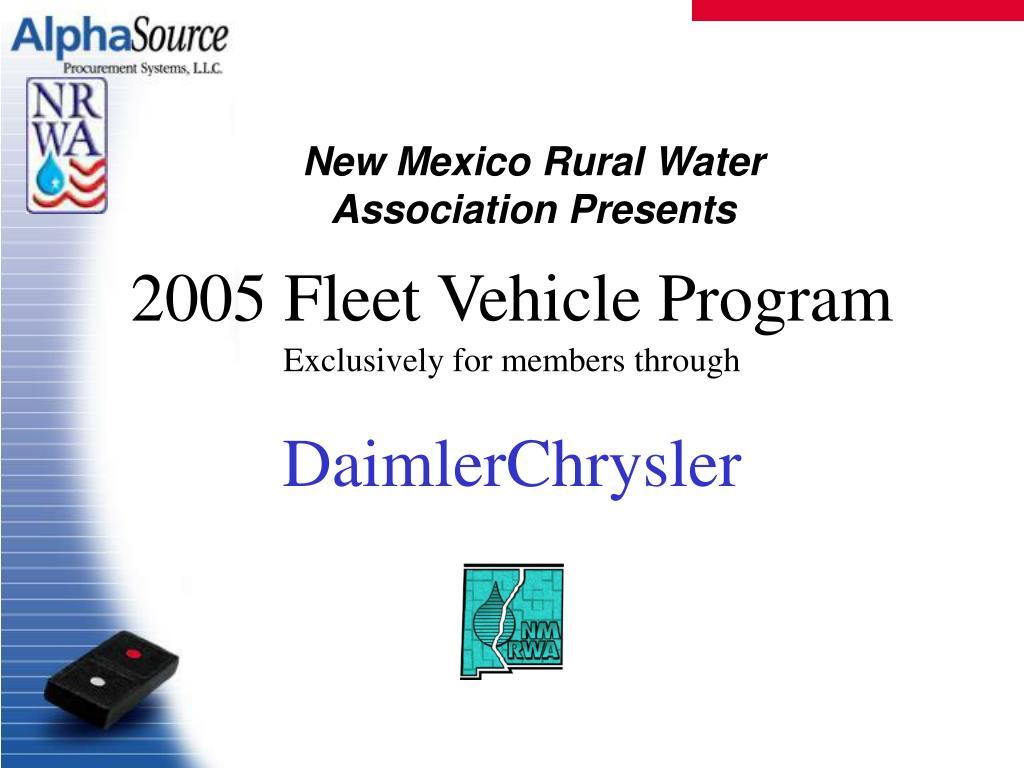 2005 Fleet Vehicle Program