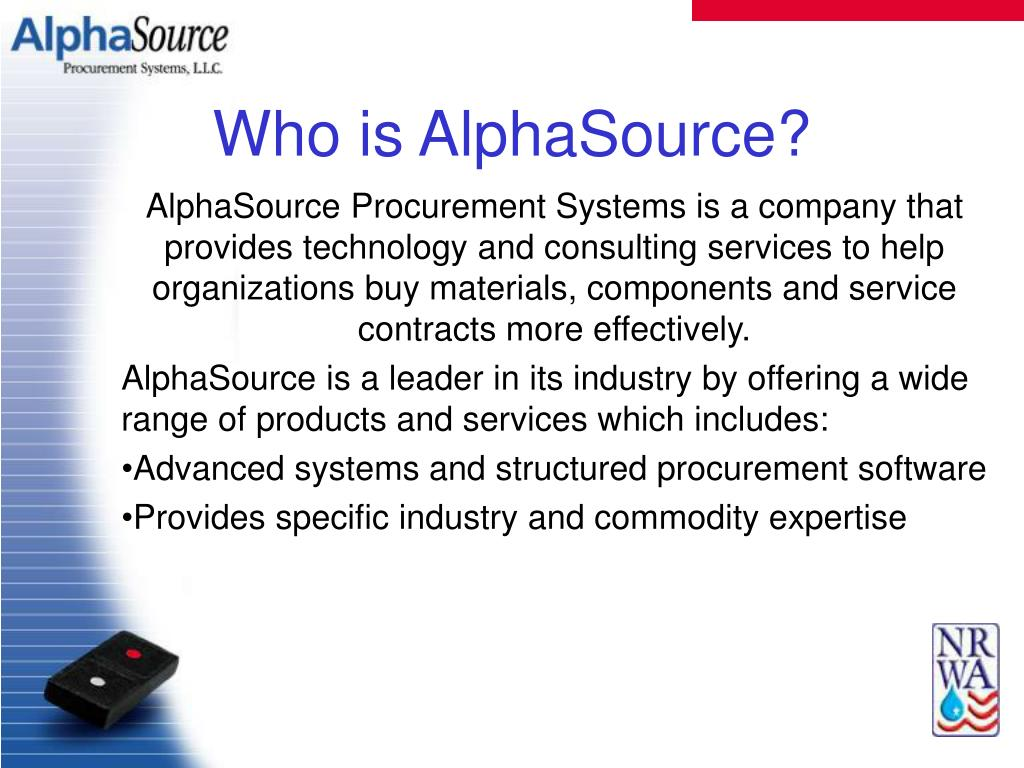 Who is AlphaSource?