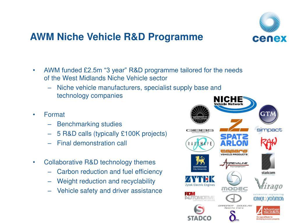 AWM Niche Vehicle R&D Programme
