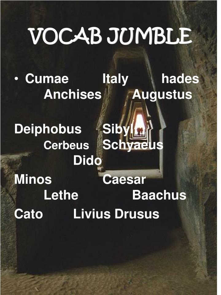 VOCAB JUMBLE