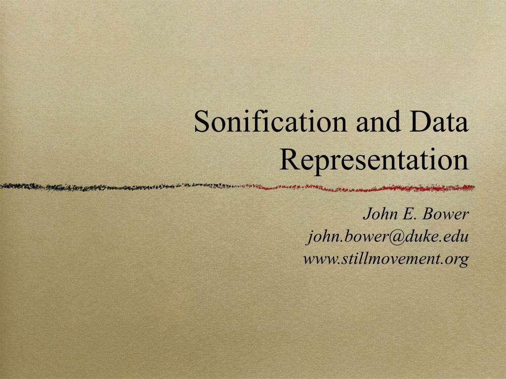 Sonification and Data Representation