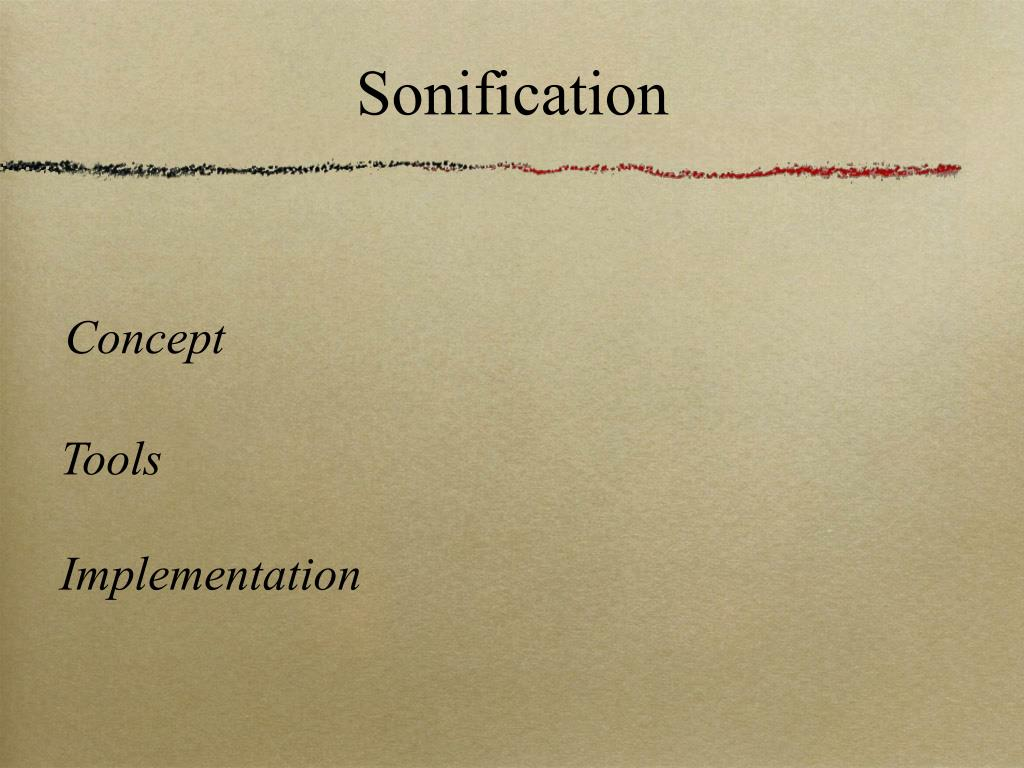 Sonification