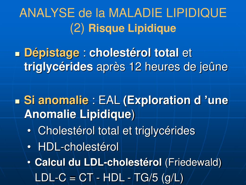 ANALYSE de la MALADIE LIPIDIQUE (2)