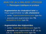 analyse de la maladie lipidique 3 ph notypes lipidiques en pratique