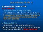 les statines suite 1
