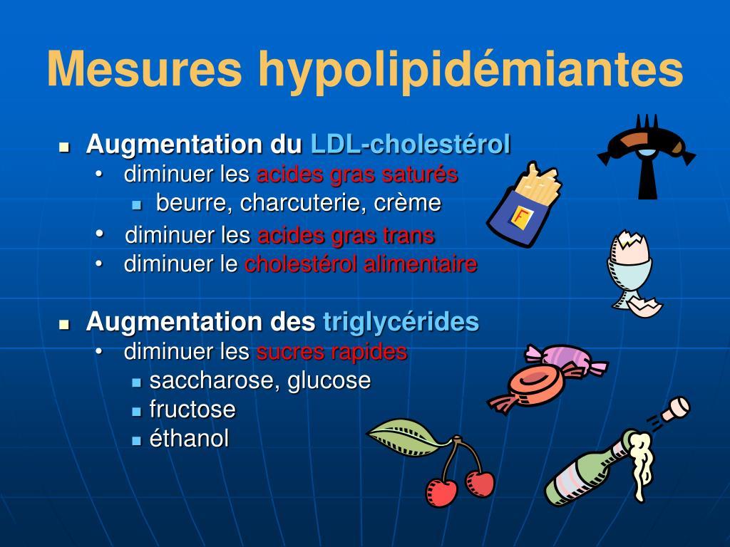 Mesures hypolipidémiantes