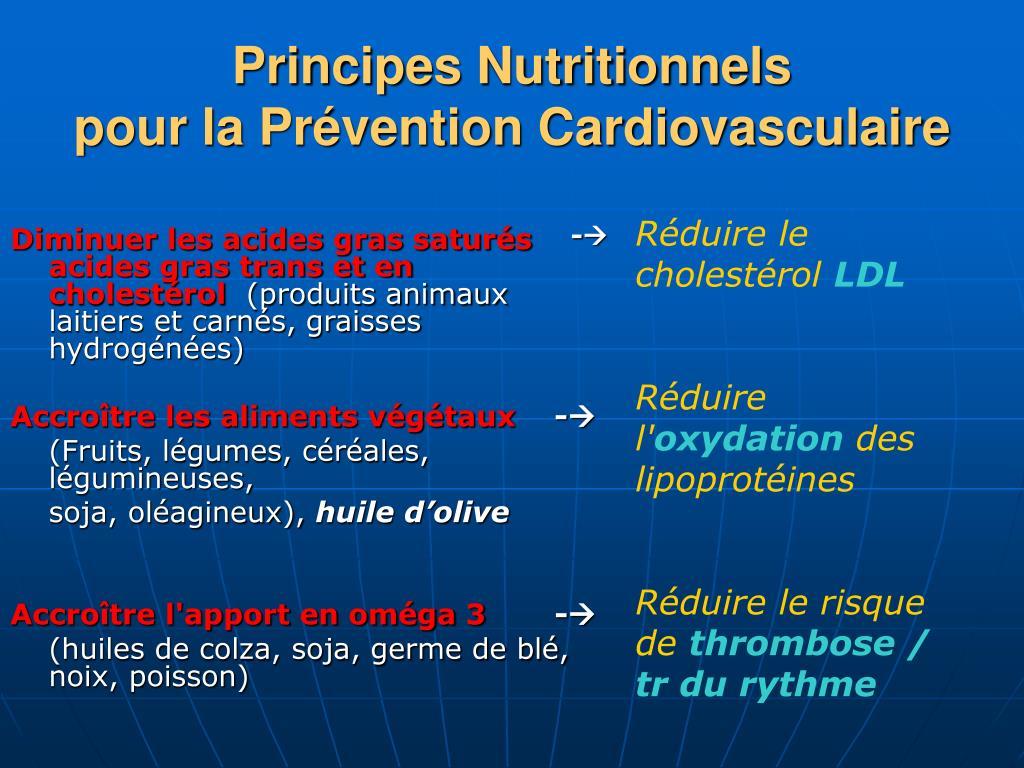 Principes Nutritionnels