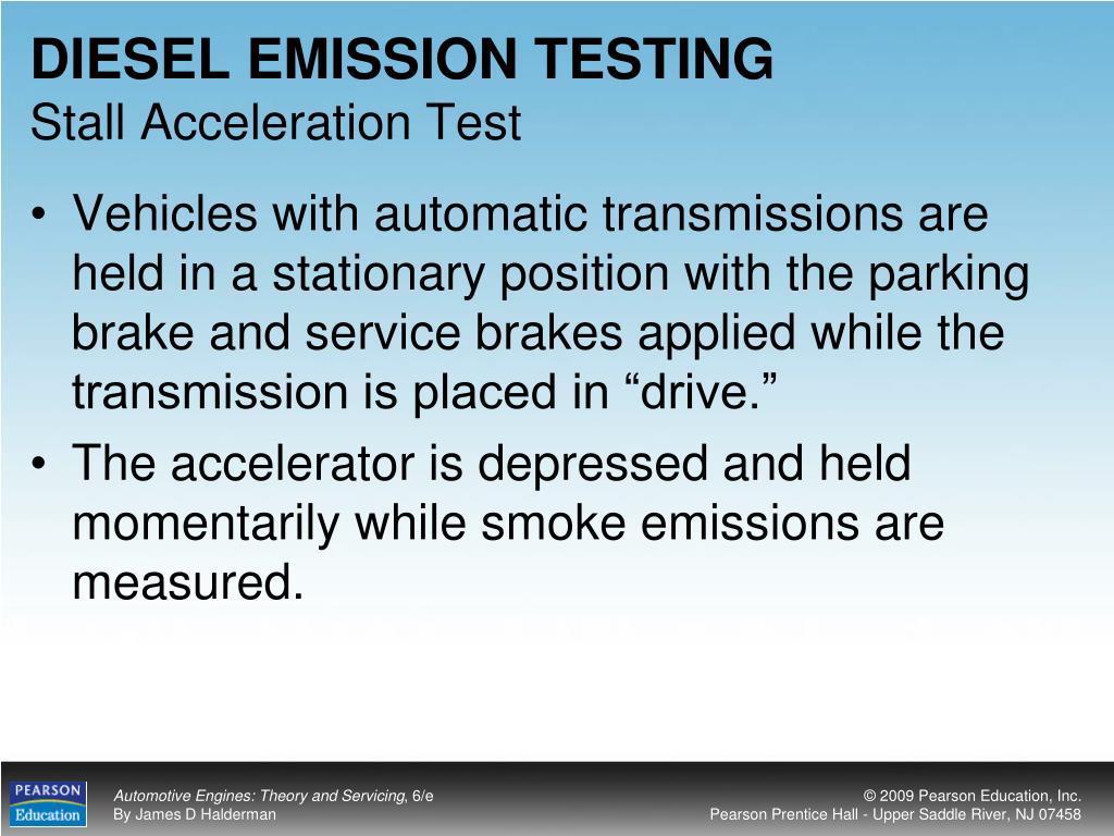 DIESEL EMISSION TESTING