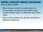 diesel exhaust smoke diagnosis gray or blue smoke
