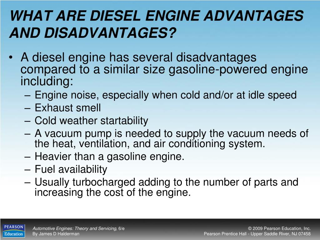 WHAT ARE DIESEL ENGINE ADVANTAGES AND DISADVANTAGES?