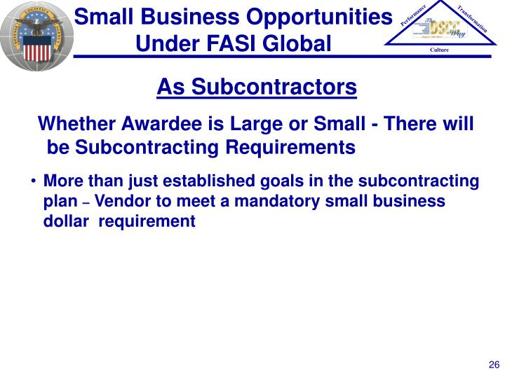 Small Business Opportunities