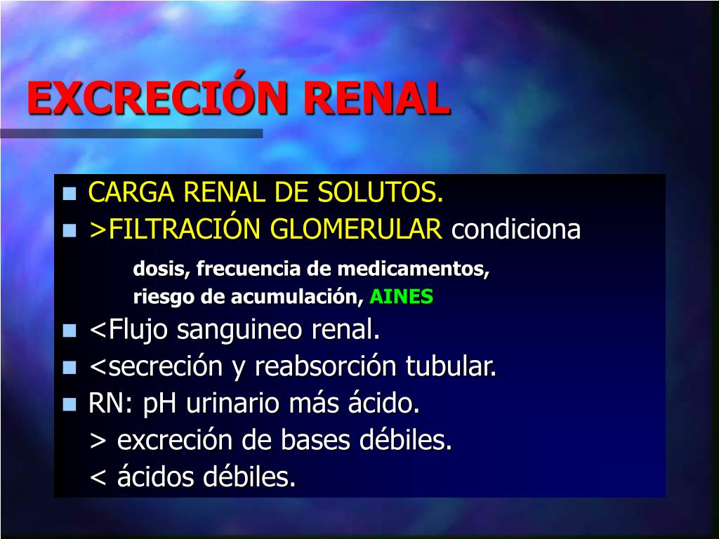 EXCRECIÓN RENAL