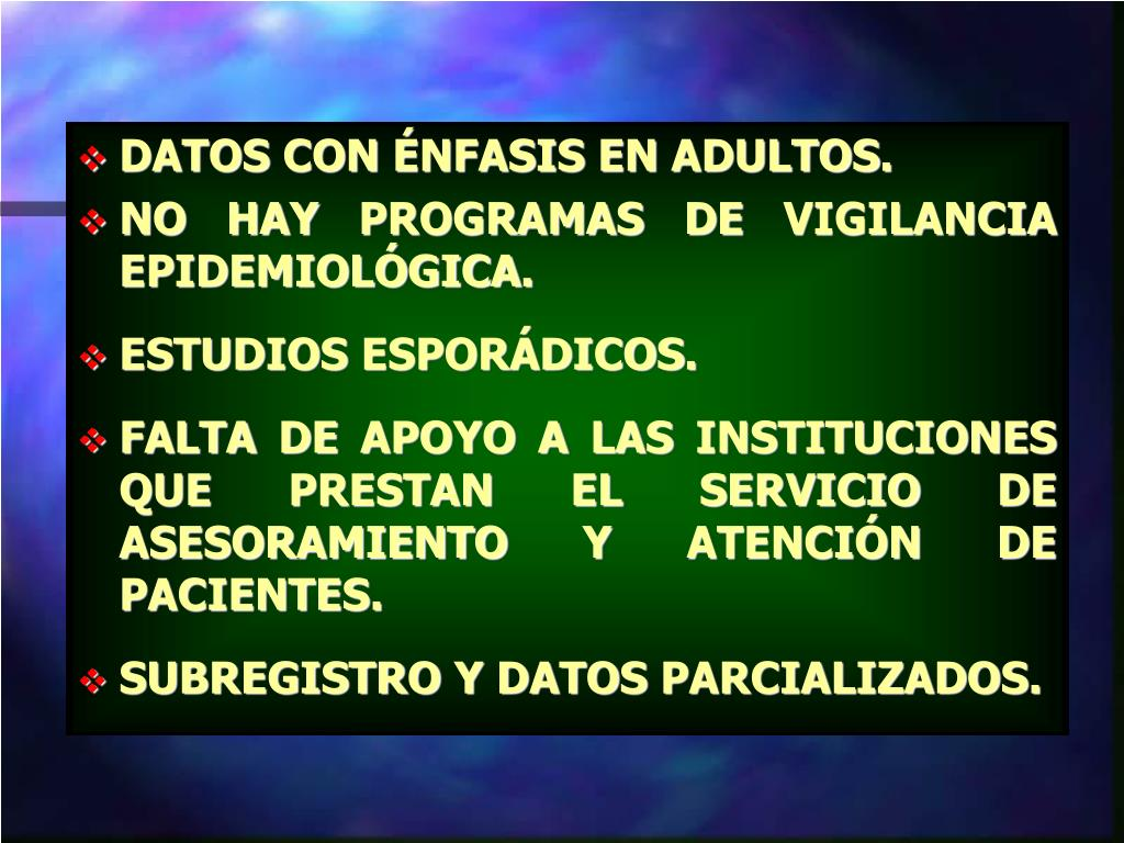 DATOS CON ÉNFASIS EN ADULTOS.