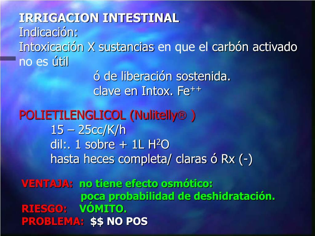 IRRIGACION INTESTINAL