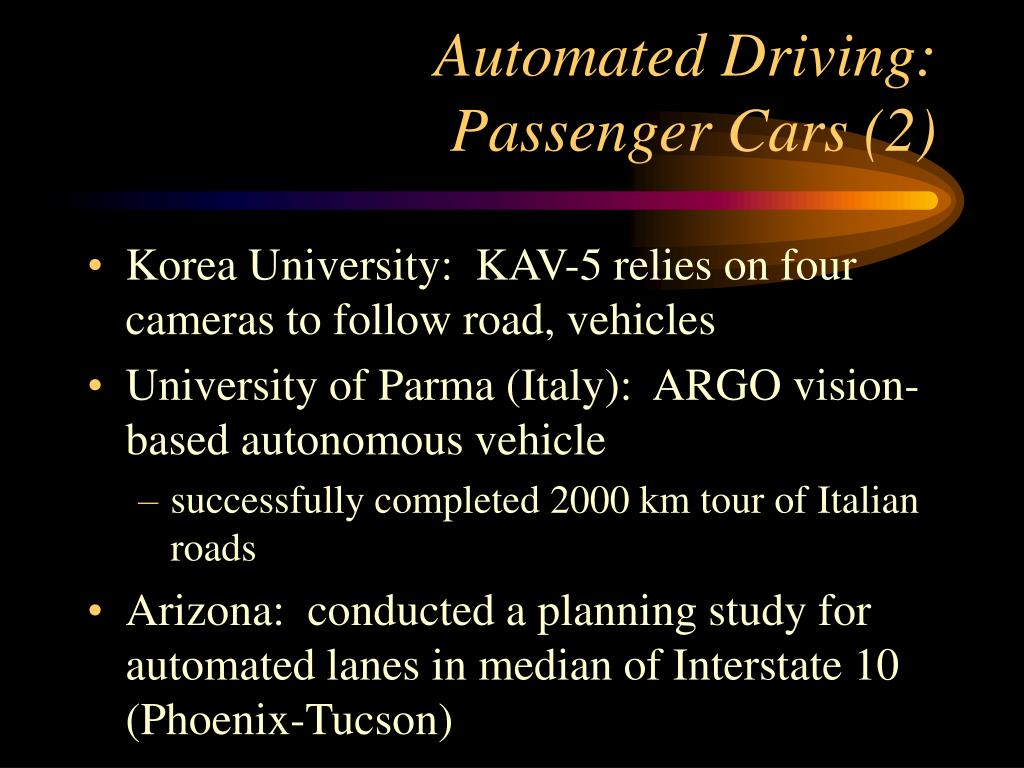 Automated Driving: