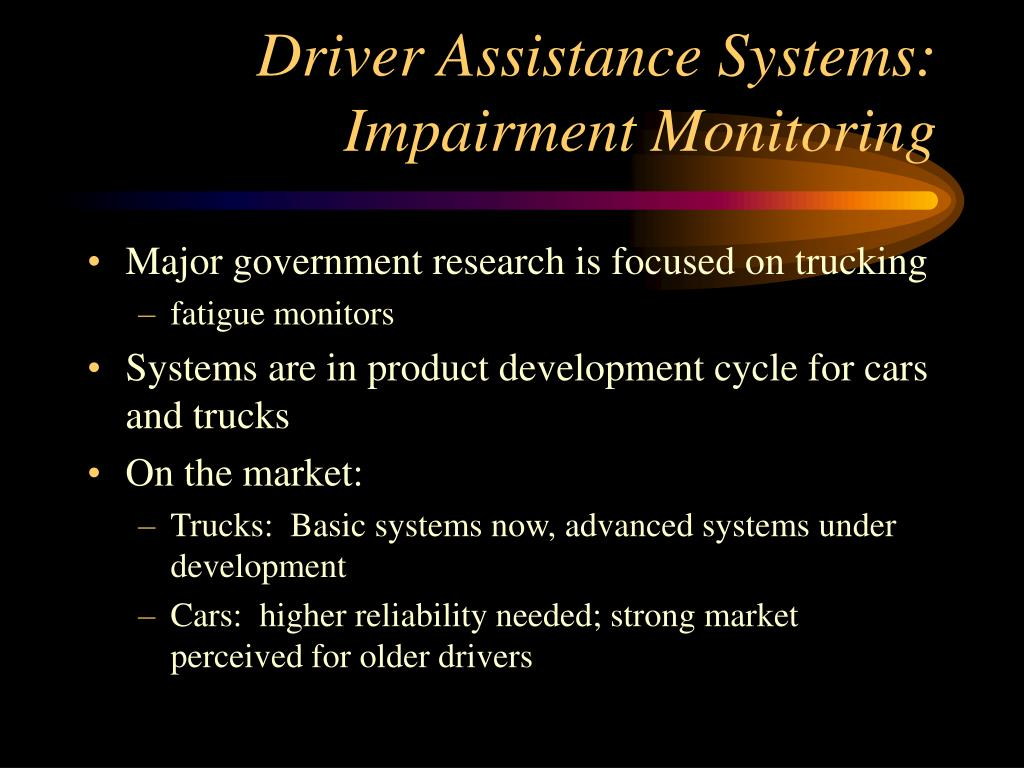 Driver Assistance Systems: