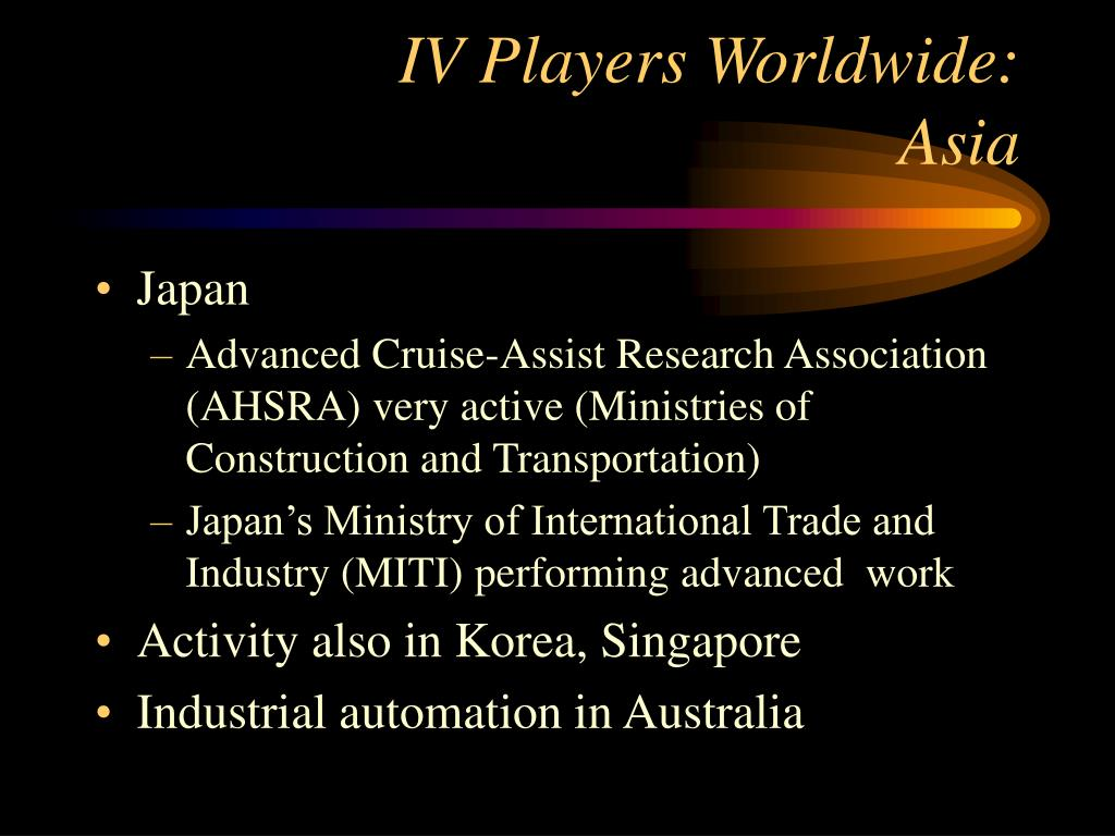 IV Players Worldwide: