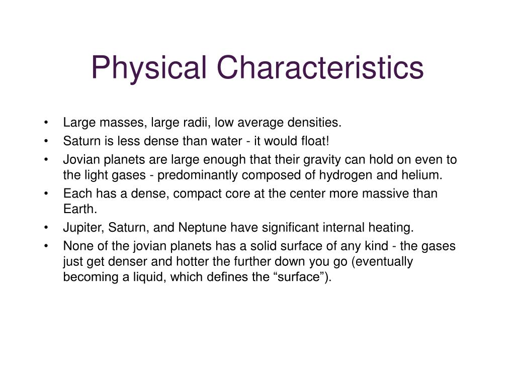 physical characteristics of planets - photo #7