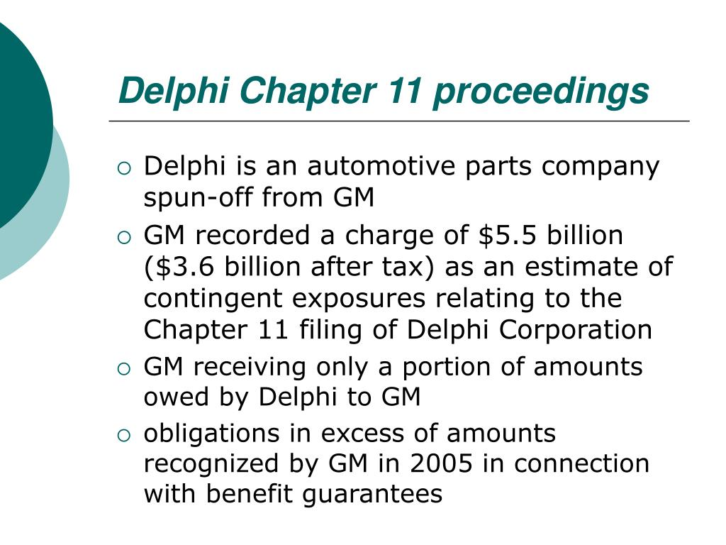 Delphi Chapter 11 proceedings