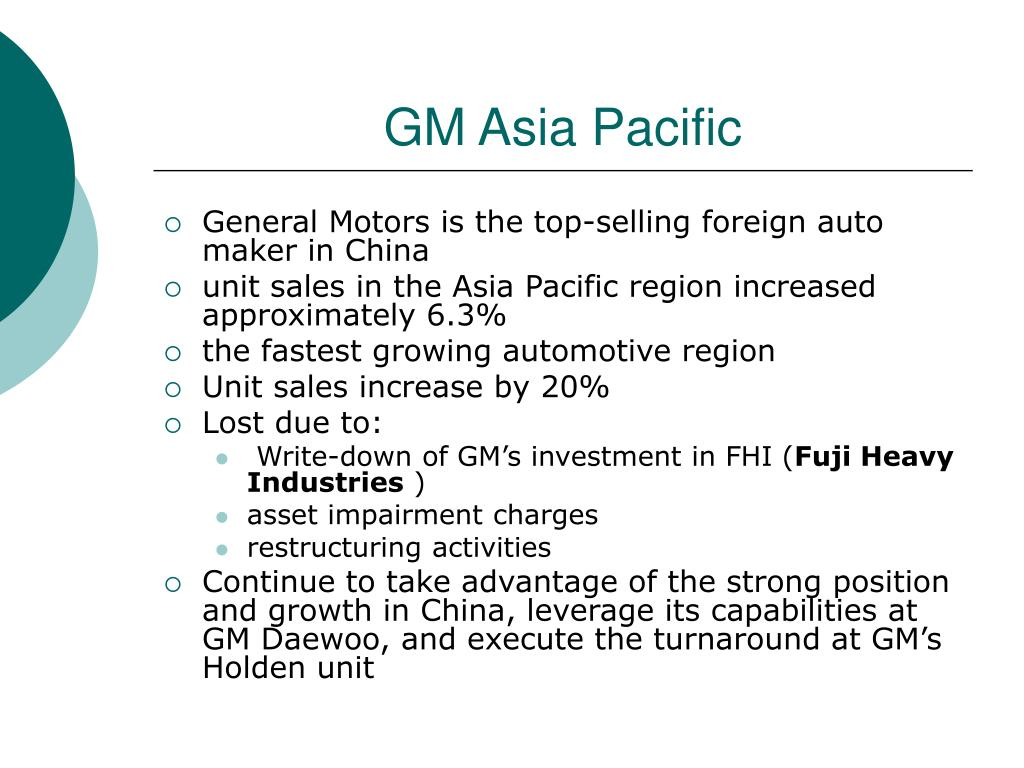 GM Asia Pacific