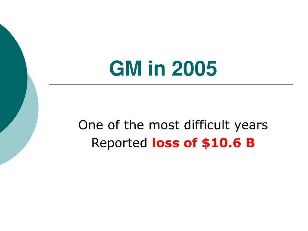 GM in 2005
