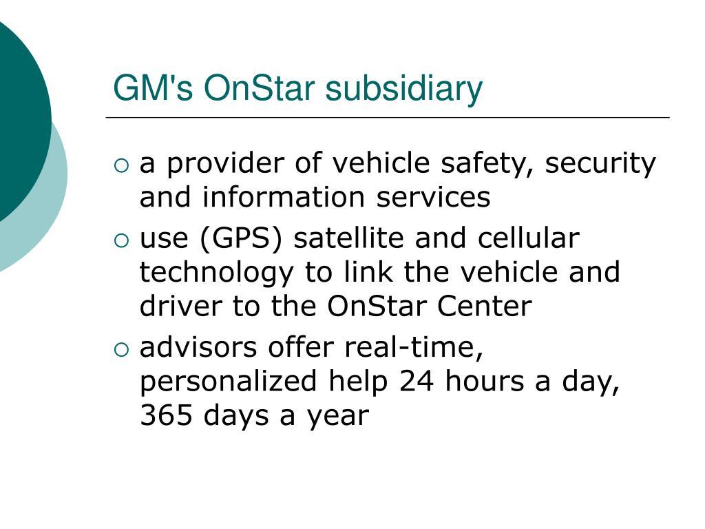 GM's OnStar subsidiary